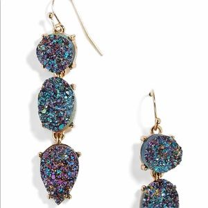 BaubleBar Mieko Drusy Drop Earrings
